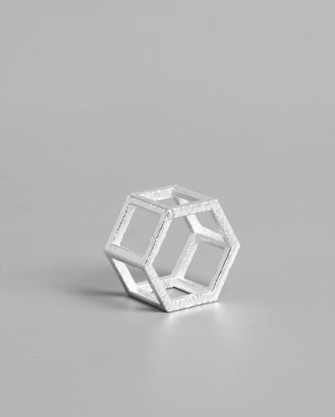 Кольцо Hexagon Silver