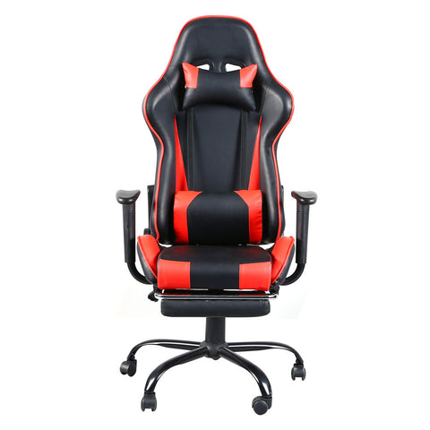 E-Sports High Back Swivel Chair Racing Gaming Chair Office Chair with Footrest Tier Black & Red
