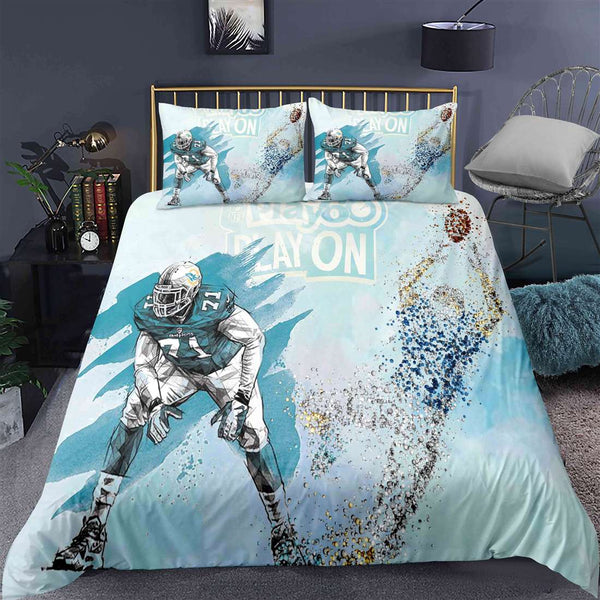 Cheap 3D Printed NFL 3PCS Duvet Cover Set Cotton Blend Bedding Set Comforter Cover Set for Children/Adult Full Sale
