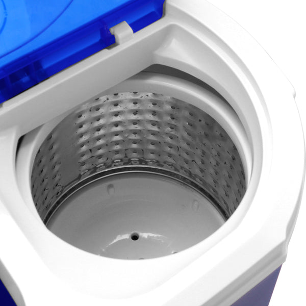 XPB30-RS3 10.4Lbs Semi-automatic Twin Tube Washing Machine US Standard White & Blue