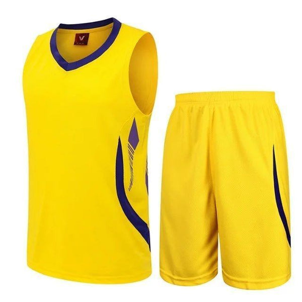 Free Shipping 2020 New Summer Quick-Drying Sweat-Absorbent Sports Suit Short-Sleeved Basketball Jersey Suit Men'S Basketball Jersey Running Sportswear Red/White/Black/Lake Blue/Yellow/Navy