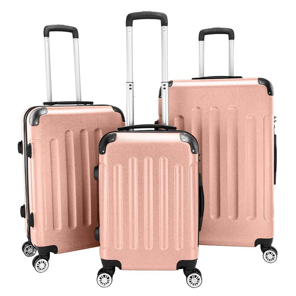 "Best Suitcases 2020 3-in-1 Portable ABS Trolley Case 20"" / 24"" / 28"" Luggage Sets Travel Organizers"