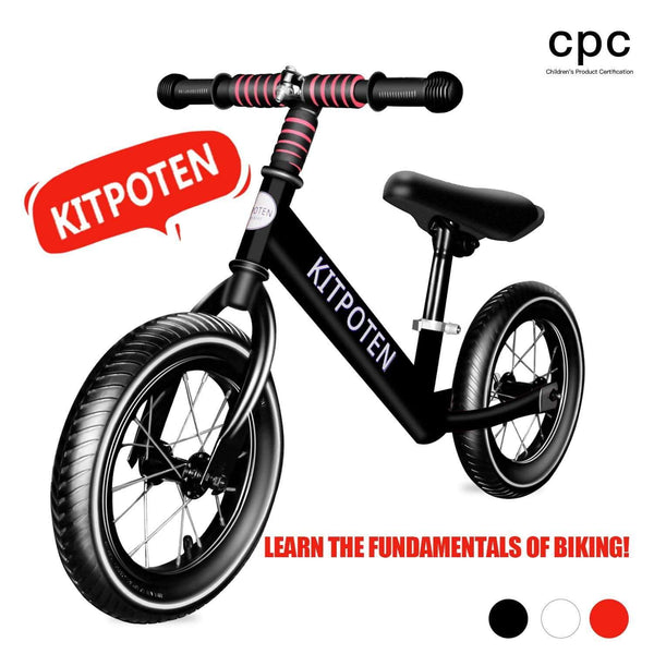 Cheap Kids Bikes 12 inch High Carbon Galvanized Balance Bike No Pedal Bike for Boys and Girls Aged 4-9 Black Us Warehouse Free Shipping