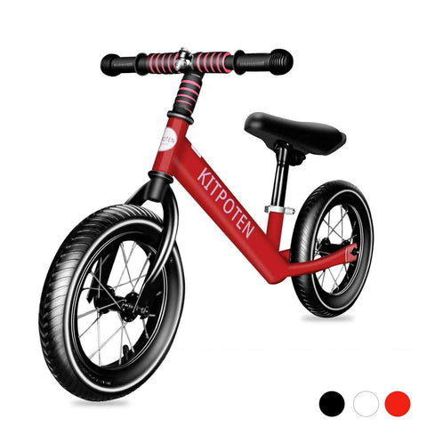 Buy Kids Bikes 12 inch High Carbon Galvanized Balance Bike No Pedal Bike for Boys and Girls Aged 4-9 Red Us Warehouse Free Shipping