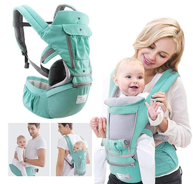 Baby Carrier, PER Ergonomic Hip Seat Carrier Safe and Comfortable Straps Multi Position Front and Back Carrier for Infant Toddler Kids 0-3 Years Old