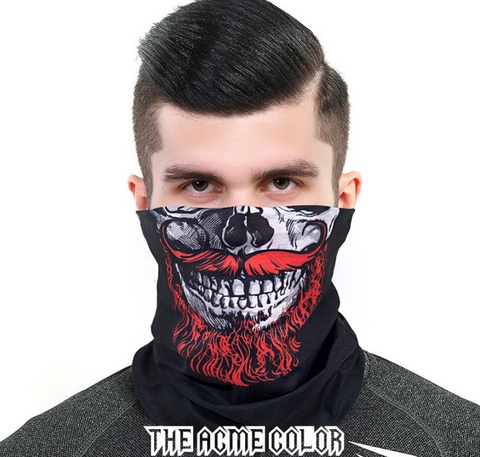 New 2020 Free Shipping [Skull] Outdoor Variety Magic Turban Sports Sunscreen Collar Running Fishing Cycling Windproof Mask Men and Women