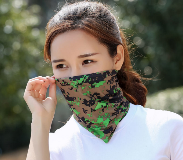 2020 New Outdoor Variety Magic Turban Sports Sunscreen Collar Running Fishing Cycling Ice Silk Windproof Sunscreen Mask Men and Womens