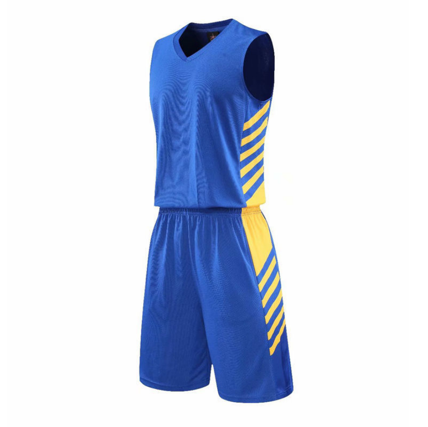 Cheap Mens Basketball Jersey Double Pocket Jersey Suit Super Light Sweat-Absorbent Basketball Team Uniform Personalized Game Class Uniform Blue/Yellow/Black/White/Red/Gray