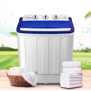 XPB50-RS5 16Lbs Semi-automatic Twin Tube Washing Machine US Standard White & Blue