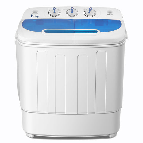 2020 New XPB46-RS4 13Lbs Semi-automatic Twin Tube Washing Machine US Standard White & Blue