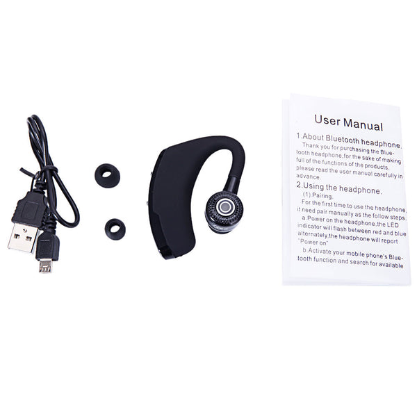 [Bluetooth Headset] V9 Stereo Bluetooth Wireless Headset Earphone Voyager Legend Neutral Black/Silver