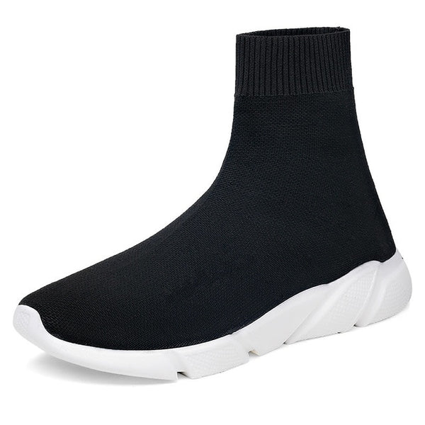 Sneakers Women Men Knit Upper Breathable Sport Shoes Sock Boots Woman Chunky Shoes High Top Running Shoes For Men Women