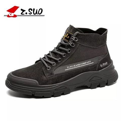Free Shipping 2020 New Suede Leather High Top Shoes Martin Tooling Shoes Men'S Shoes Size 38-44 Men Shoes Casual