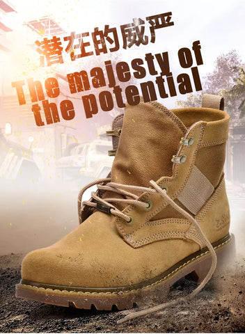 2020 New Z.Suo Men'S Boots Outdoor High-Top Casual Shoes Men'S Trend British Tooling Shoes Martin Boots Wild