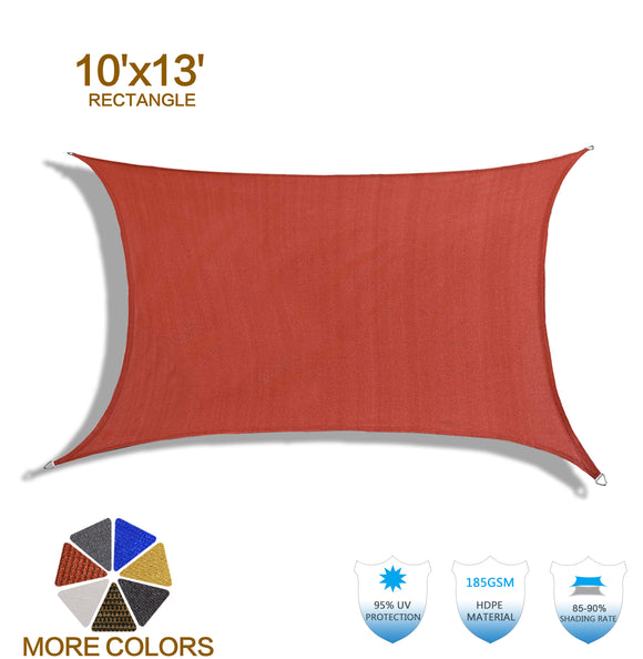 HENG FENG 10'x13' Terra Rectangle Sun Shade Sail UV Block for Patio Deck Yard and Outdoor
