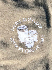 Super Soft Short Sleeve Olive The Old Rusty Coop T-shirt