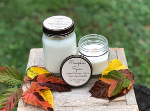 Pumpkin Spice ~ Hand Poured 100% Soy Wax Wooden Wick Candle