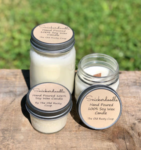 Snickerdoodle ~ Hand Poured 100% Soy Wax Wooden Wick Candle