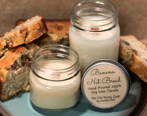 Banana Nut Bread ~ Hand Poured 100% Soy Wax Wooden Wick Candles