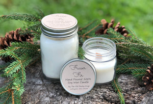 Fraser Fir ~ Hand Poured 100% Soy Wax Wooden Wick Candle