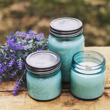 Load image into Gallery viewer, Lavender Vanilla Vintage Inspired Jar ~ Hand Poured 100% Soy Wax Wooden Wick Candle