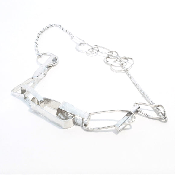 Handcrafted sterling silver chunky chain . Gem division jewellery, contemporary, handmade, handcrafted, oneoff, organic