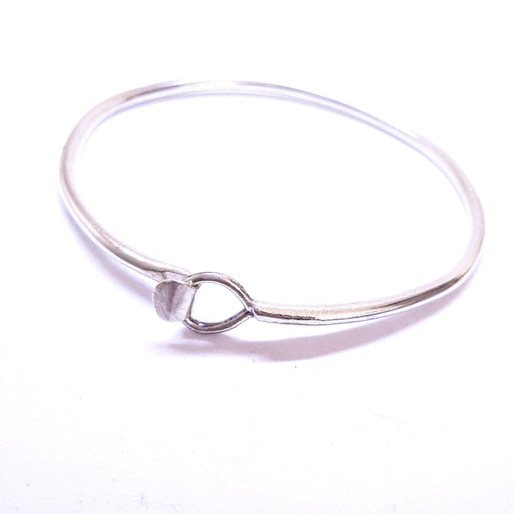 Sterling silver handmade bracelet. Gem division contemporary jewellery, organic style, one off, brutalist