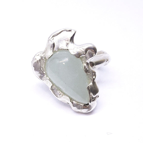 Aquamarine and sterling silver ring. Gem Division contemporary jewellery