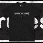 Load image into Gallery viewer, Go Viral Tees - Social Distancing T-Shirts - Follow The Rules - Black