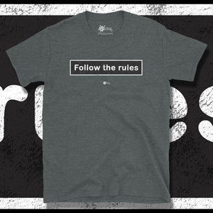 Go Viral Tees - Social Distancing T-Shirts - Follow The Rules - Dark Heather