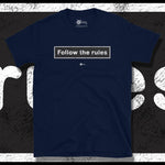Load image into Gallery viewer, Go Viral Tees - Social Distancing T-Shirts - Follow The Rules - Navy