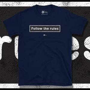 Go Viral Tees - Social Distancing T-Shirts - Follow The Rules - Navy
