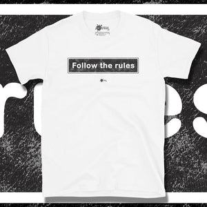 Go Viral Tees - Social Distancing T-Shirts - Follow The Rules - White