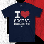 Load image into Gallery viewer, Go Viral Tees - Social Distancing T-Shirts - I Love Social Distancing - Navy