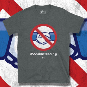 Go Viral Tees - Social Distancing T-Shirts - No Handshakes #socialdistancing - Dark Heather