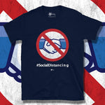 Load image into Gallery viewer, Go Viral Tees - Social Distancing T-Shirts - No Handshakes #socialdistancing - Navy
