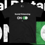 Load image into Gallery viewer, Go Viral Tees - Social Distancing T-Shirts - Social Distancing ON - Black