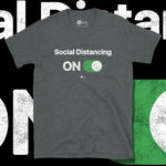 Load image into Gallery viewer, Go Viral Tees - Social Distancing T-Shirts - Social Distancing ON - Dark Heather