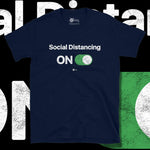 Load image into Gallery viewer, Go Viral Tees - Social Distancing T-Shirts - Social Distancing ON - Navy