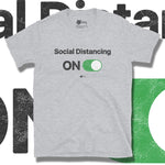 Load image into Gallery viewer, Go Viral Tees - Social Distancing T-Shirts - Social Distancing ON - Sport Grey