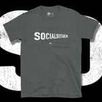 Load image into Gallery viewer, Go Viral Tees - Social Distancing T-Shirts - Social Distancing Perspective - Dark Heather