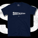 Load image into Gallery viewer, Go Viral Tees - Social Distancing T-Shirts - Social Distancing Perspective - Navy