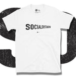 Load image into Gallery viewer, Go Viral Tees - Social Distancing T-Shirts - Social Distancing Perspective - White