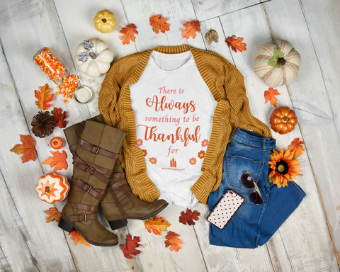 Always Thankful Women's Relaxed Fit White Tee
