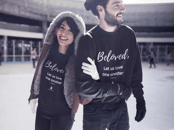 Beloved - Heavy Blend™ Crewneck Sweatshirt - Words of Faith Tees