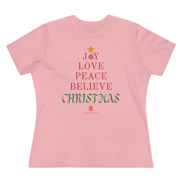 Christmas Words - Women's Premium Relaxed Fit T-Shirt - Words of Faith Tees