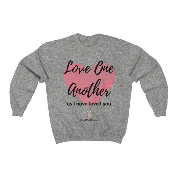 Love One Another - Heavy Blend™ Crewneck Sweatshirt - Words of Faith Tees