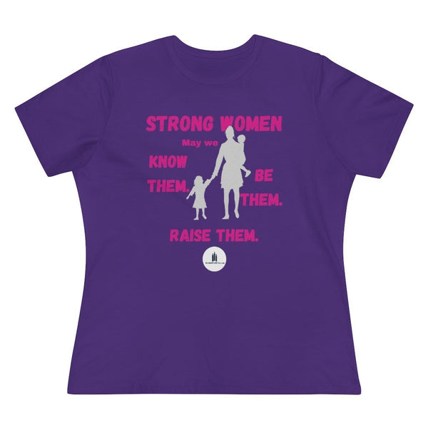Strong Women - Women's Relaxed Fit Premium T-Shirt - Words of Faith Tees