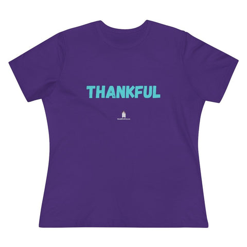 Thankful Women's Premium Relaxed Fit T-Shirt - Words of Faith Tees