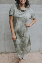 Load image into Gallery viewer, Evie Tie-Dye Dress in Olive